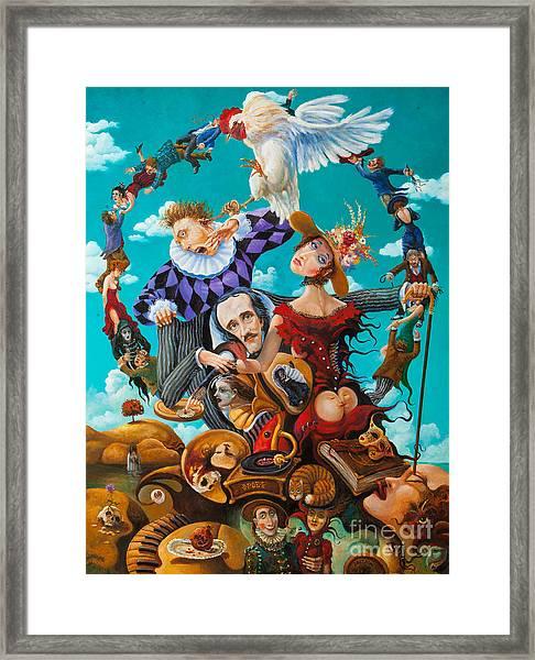 His Majesty Edgar Allan Poe Framed Print