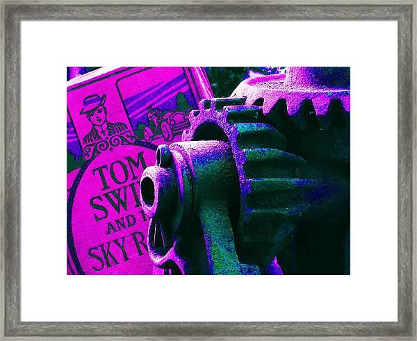 His Sky Racer... Framed Print