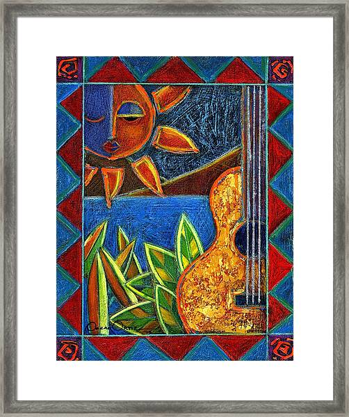Framed Print featuring the painting Hispanic Heritage by Oscar Ortiz