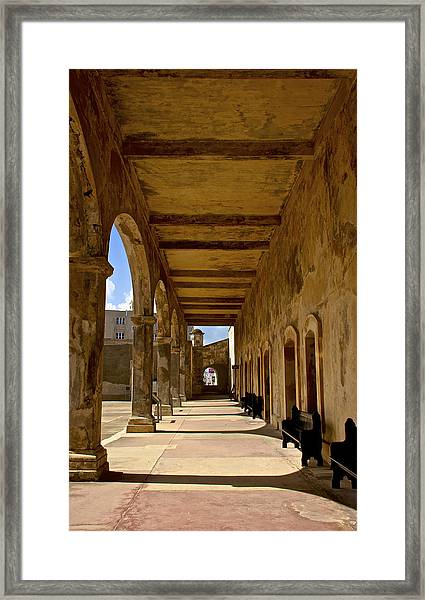 Historic Archways Framed Print
