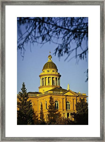Historic Auburn Courthouse 5 Framed Print
