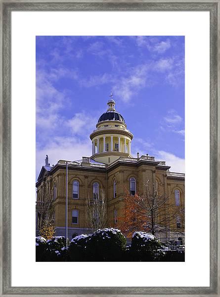 Historic Auburn Courthouse 7 Framed Print