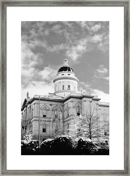 Historic Auburn Courthouse 8 Framed Print