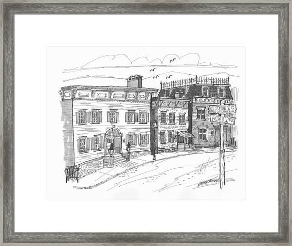 Historic Catskill Street Framed Print