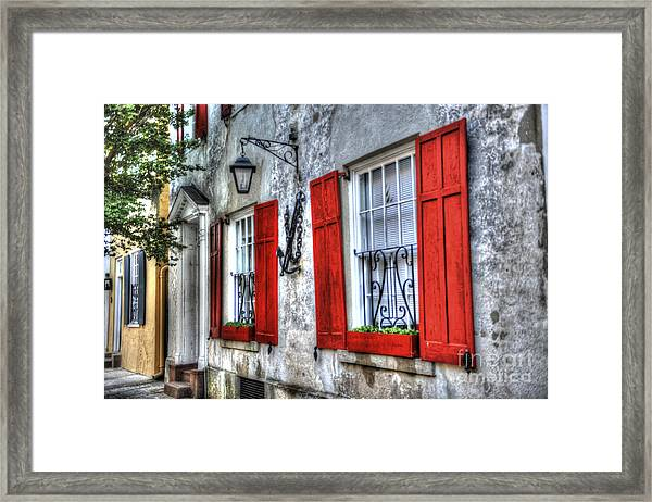 Historic Charleston Pirates House Framed Print