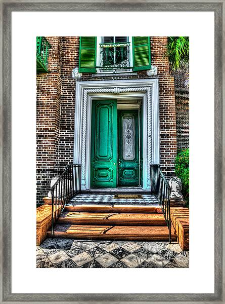 Historic Charleston Sc Door Framed Print