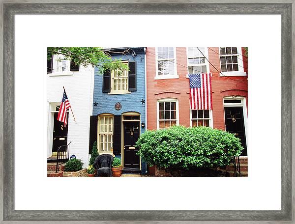 Historic Houses, Old Town Framed Print