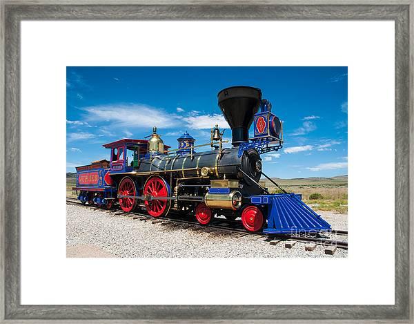 Historic Jupiter Steam Locomotive - Promontory Point Framed Print