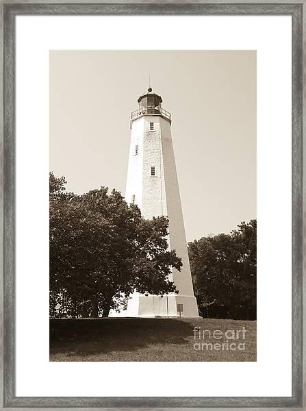 Historic Sandy Hook Lighthouse Framed Print