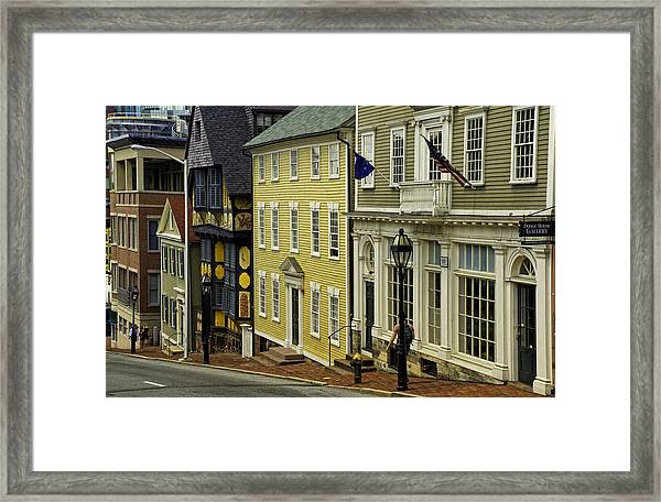 Historic Street In Providence Ri Framed Print