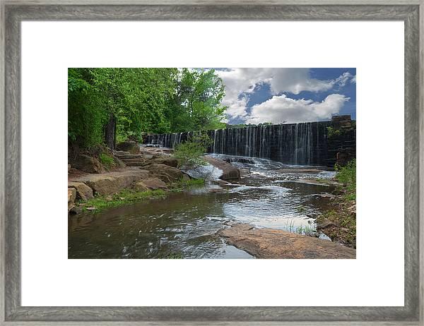 Historic Yates Mill Dam - Raleigh N C Framed Print