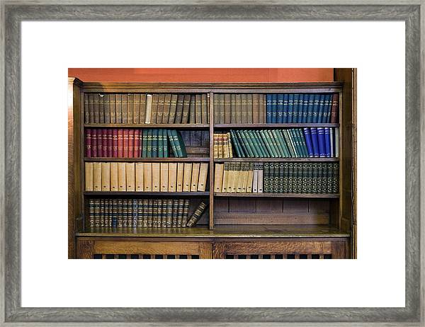 Historical Books And Journals Framed Print