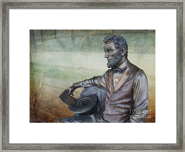 History - Abraham Lincoln Contemplates -  Luther Fine Art Framed Print