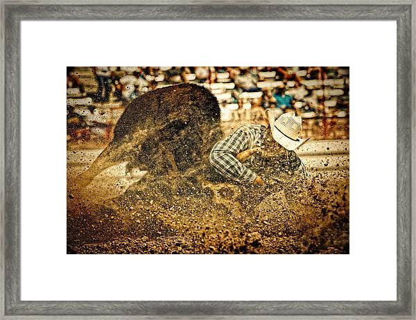 Hittin' The Dirt Framed Print