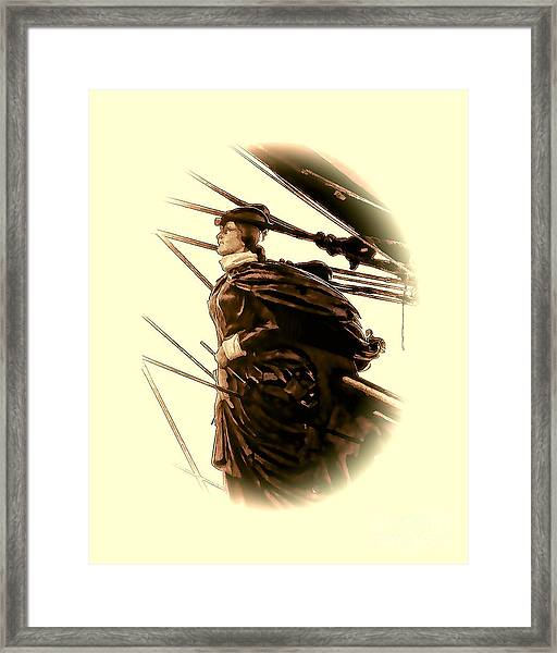 Hms Bounty - Lost At Sea  Framed Print