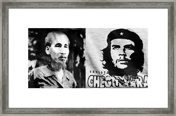 Ho Chi Minh And Che Guevara Framed Print
