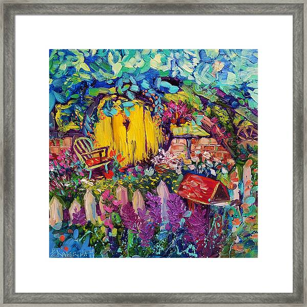 Hobbit House Oil Painting Framed Print