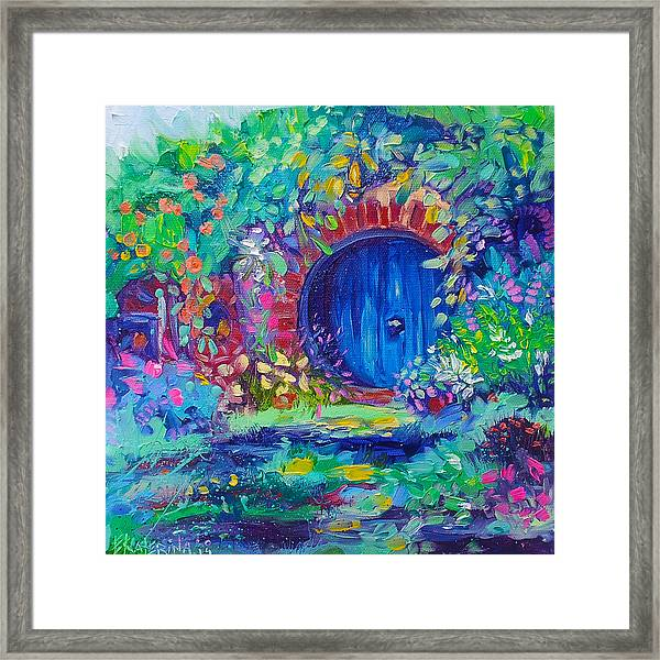 Hobbit House Shire Hobbiton Framed Print