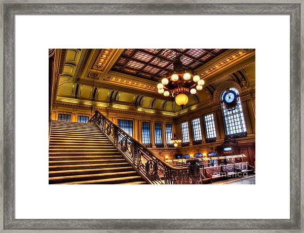 Hoboken Terminal Framed Print