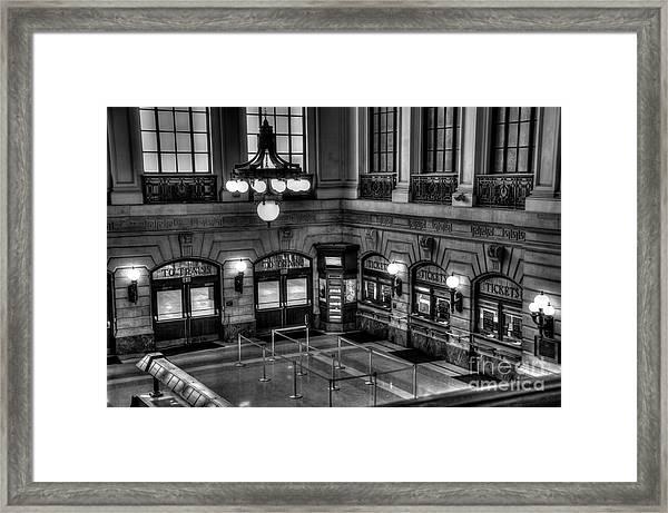 Hoboken Terminal Waiting Room Framed Print