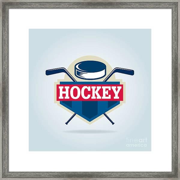 Hockey Logo,sport Framed Print