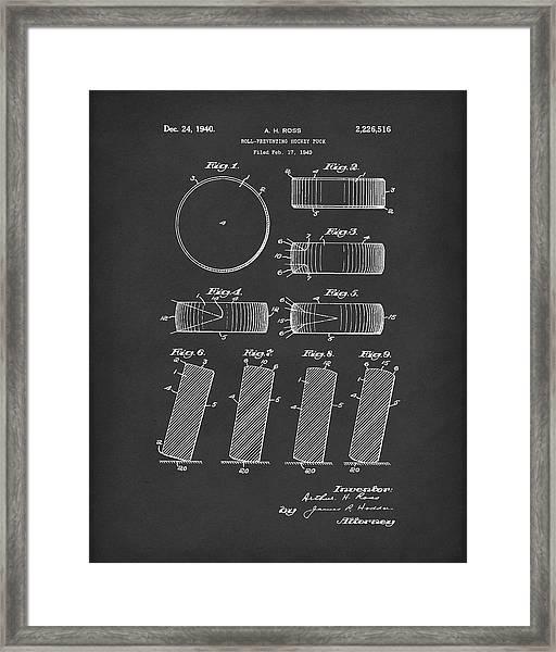 Hockey Puck Patent Art Black Framed Print