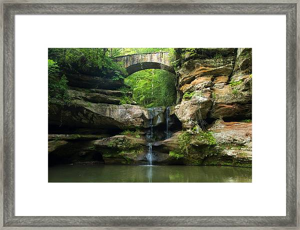 Hocking Hills Waterfall 1 Framed Print