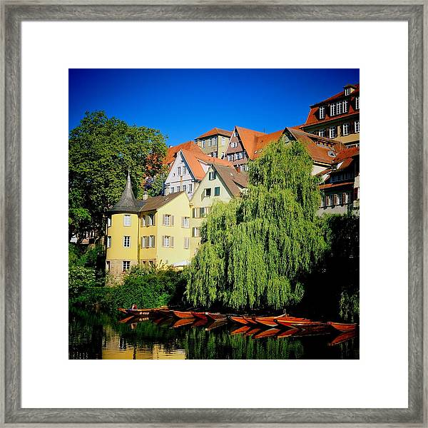 Hoelderlin Tower In Lovely Tuebingen Germany Framed Print