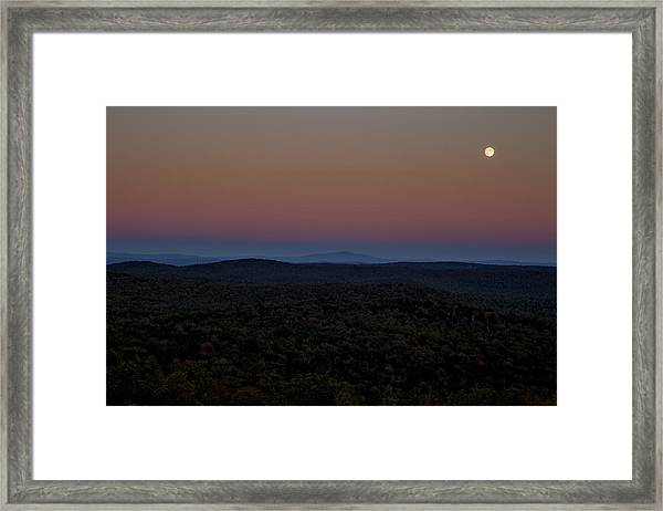Hogback Harvest Moon Framed Print