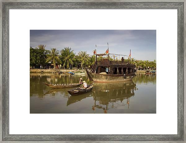 Hoi An River Boats Framed Print