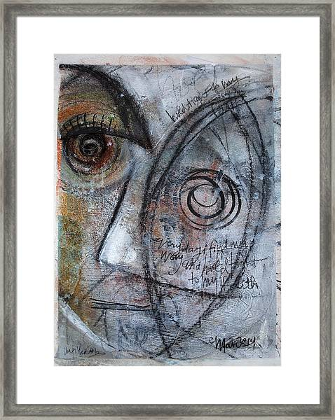 Framed Print featuring the painting Hold Tight To My Faith by Laurie Maves ART