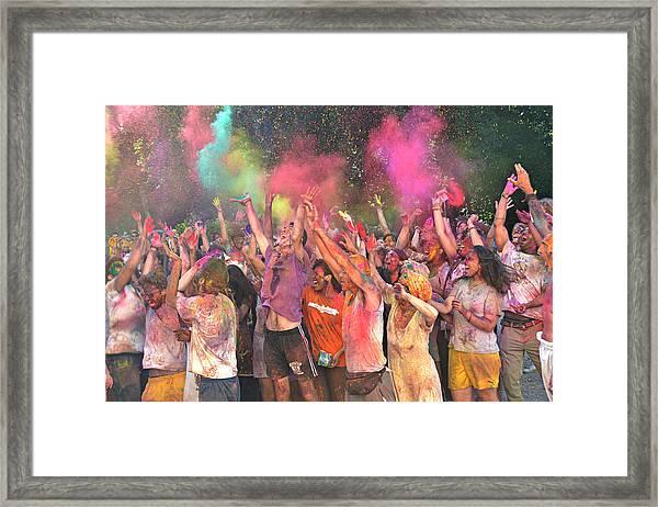 Holi Color Festival Framed Print