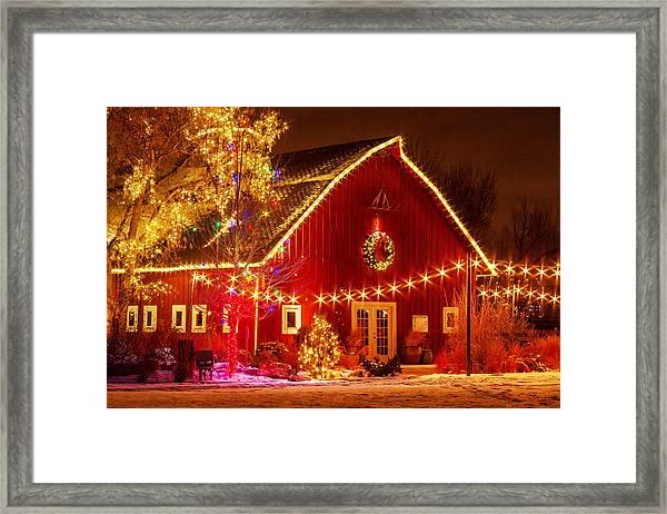 Holiday Barn Framed Print