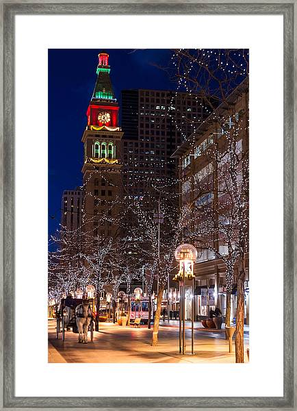 Holiday Carriage Ride Framed Print