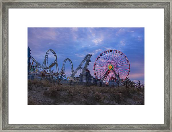 Holiday Ferris Wheel Framed Print