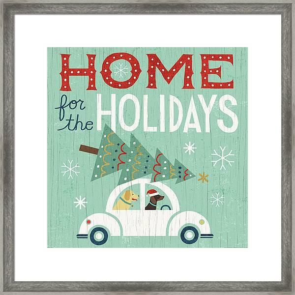 Holiday On Wheels I Framed Print