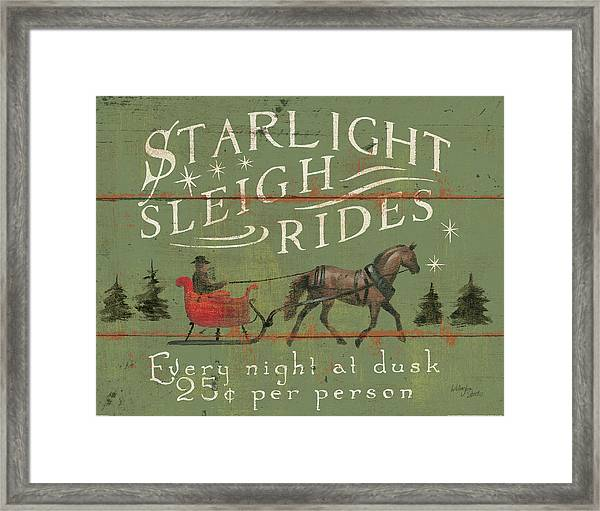 Holiday Signs II Framed Print