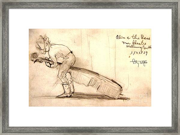 Hollywood Cowgirl- Olivia And The Bass Framed Print