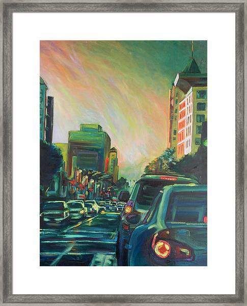 Hollywood Sunshower Framed Print