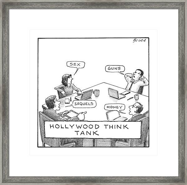 Hollywood Think Tank Framed Print