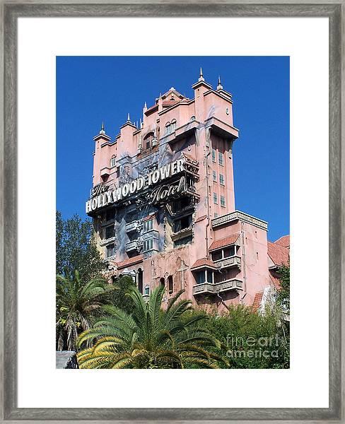 Hollywood Tower Hotel Framed Print