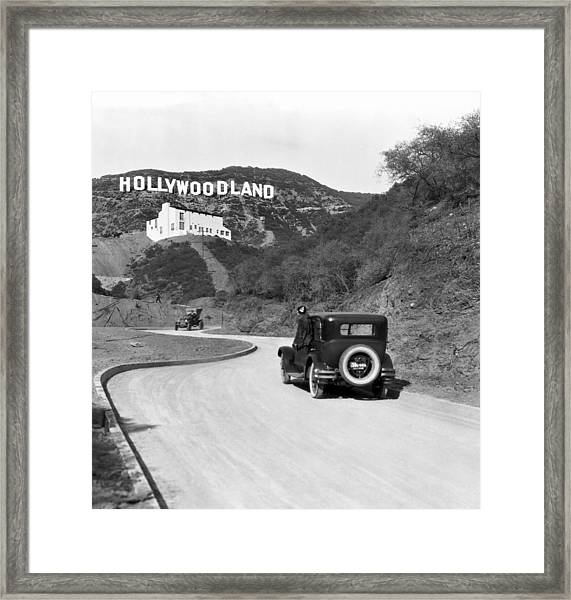 Hollywoodland Framed Print
