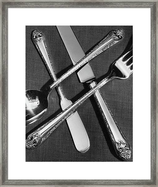 Holmes And Edwards Collection Silverware Framed Print