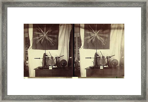 Holtz Machine, Steroegraphic Images Framed Print
