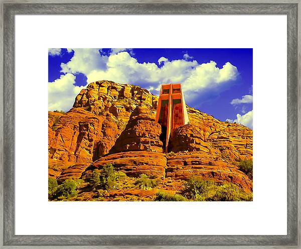 Holy Cross Chapel Coconino National Forest Framed Print