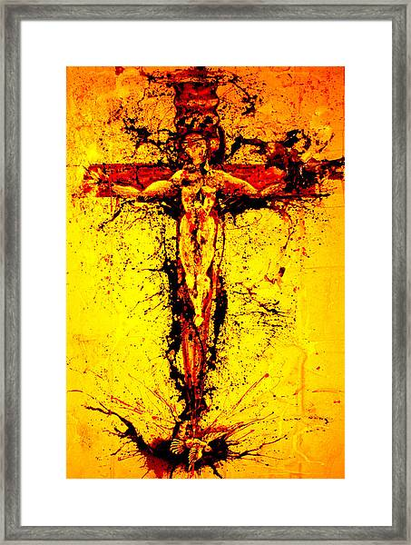 Holy Cross Unholy Sword Framed Print