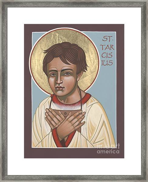 Holy Martyr St. Tarcisius Patron Of Altar Servers 271 Framed Print
