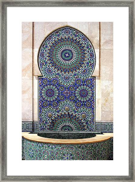 Holy Water Fountain Hassan II Mosque Sour Jdid Casablanca Morocco  Framed Print by PIXELS  XPOSED Ralph A Ledergerber Photography