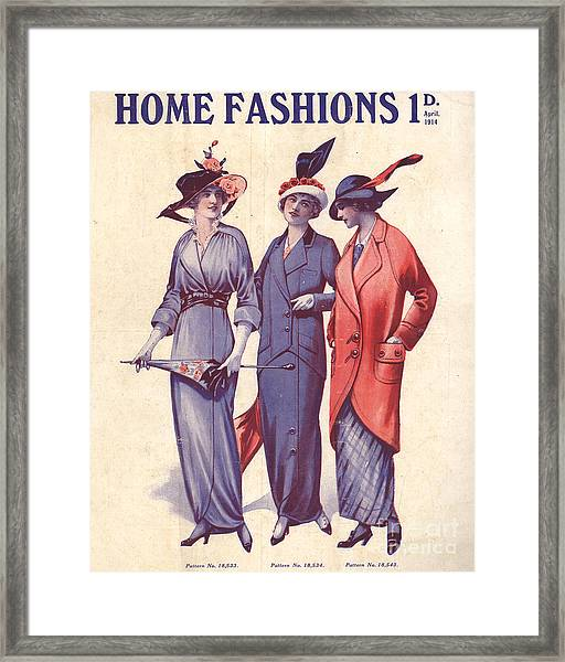 Home Fashion  1917 1910s Uk Womens Framed Print