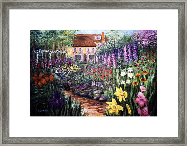 Framed Print featuring the painting Home Garden by Lynn Buettner